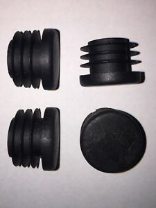 2x Handlebar End Caps - Robust Plastic Barend Plugs for Bike / Scooter Grips