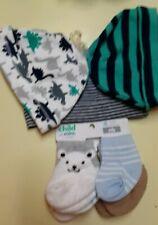 Infant 0-6 Months 3pc Hat Set & 4pc Socks Carter's Child 'O Mine