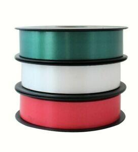 Nastro Confezione Regalo 300 m 3 colori Rosso Verde Bianco 31 mm Made in Italy