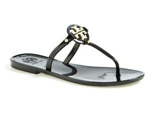 Tory Burch Mini Miller Jelly Flat Sandals in Black Size 7