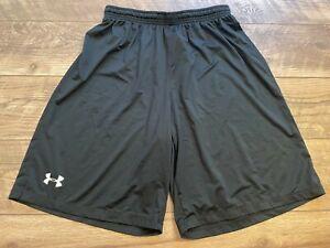 UNDER ARMOUR heatGEAR Loose Black Athletic crossFIT Training Shorts mens Medium