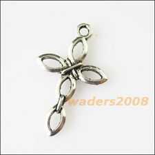 12pcs Ton Or Crucifix Croix Charms X0256