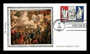 DR JIM STAMPS US FRENCH REVOLUTION AIR MAIL STICKER CACHET UNSEALED FDC COVER