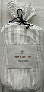 Hearth /& Hand with Magnolia Farmhouse 4 pc Full Sheet Set *Foggy Day Green*