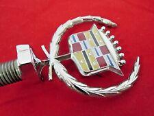 New GM NOS 1977- 1979 Cadillac Fleetwood  & Brougham hood ornament emblem crest