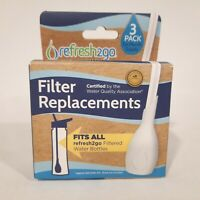 Refresh2go Level 1 Replacement Filters 3 Pack For Water Bottle BPA Free **NEW