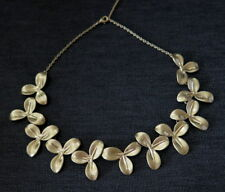 a NEW Golden Flowers Chain Necklace