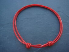 Red real leather cord thong adjustable anklet surf goth hippy beach