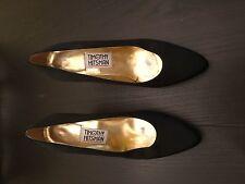 Timothy Hitsman brand sz 8M pumps in Black w/ Gold heal. Vintage. FREE shipping!
