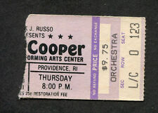 1981 Alice Cooper concert ticket stub Providence RI Special Forces Tour