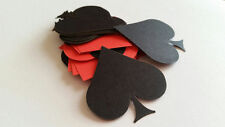 Card Stock Poker Card Symbol Scrap Booking Die Cut Outs!