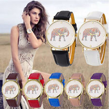 Casual Women Elephant Watch Stainless Steel Analog Quartz Leather Wrist Watches