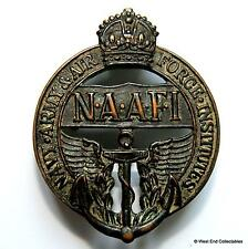 Genuine: WW2 NAAFI Bronze Cap Badge - Navy, Army & Air Force Institutes B