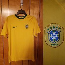 BRASIL BRAZIL Soccer Jersey Kit NIKE Dri Fit Adult S SMALL Short Sleeve YELLOW