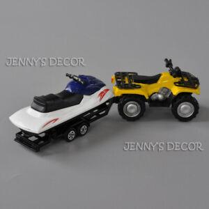 1:50 Diecast Metal Quad ATV With Jet-Ski Trailer Model For Kids Toys Gifts Hot