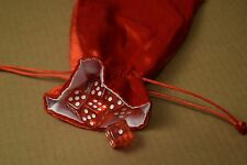 NEW Large Red Velvet RPG Game Dice Bag w/ White Satin Lining Counter Pouch Gift