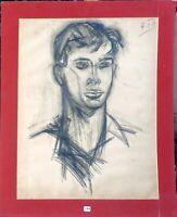""""""""""" auto portrait  nu """"  vers 1950/60 par André TELLIER"""