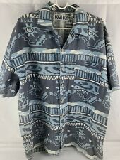 Bugle Boy Vintage Mens XL Western Shirt Southwestern button shirt sleeve