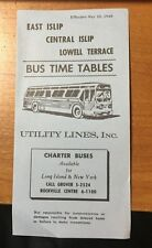 1968 BUS TIME TABLES EAST CENTRAL ISLIP LOWELL TERRACE LONG ISLAND NEW YORK LI