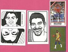 Magic Johnson Basketball Fab Card Collection