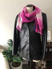 $798 Coach Women's Leather Chic Jacket Coat BLACK Sz S *EUC*