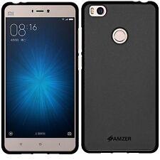 AMZER Pudding Matte TPU Skin Case Protective Cover For Xiaomi Mi 4s Mi4s - Black