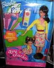 BARBIE & KELLY GIFTSET Mattel 2002 BRUNETTE ART school TEACHER  VINTAGE