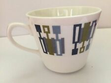Royal Vale, Bone China, Retro Blue/Green Shape Pattern, Tea Cup