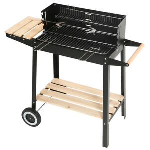 Charcoal BBQ Grill Trolley Barbecue Patio Outdoor Garden Heating Smoker Picnic