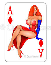 JESSICA RABBIT GAM SHOW Sexy Aces playing card decal sexy pin-up sticker