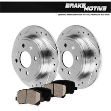 Rear Drill & Slot Brake Rotors And Ceramic Pads For Integra Civivc CRX Prelude