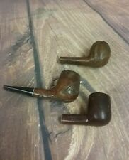 VINTAGE TABACCO PIPE 3 PIECE LOT  - MARKED LEISURE, MAXMAN, BRADFORD