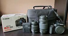 Canon EOS Rebel T6 Camera/ Two lens 75-300/ SD 32GB/ Charger/ Bag/ Original Box
