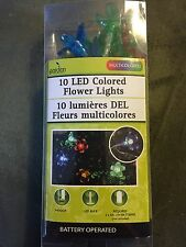 Garden Collections 10 Led Colored Flower Lights New