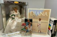 1964-97 Princess Diana collector Doll, Readers Digest HB Book, 3 VHS Funeral