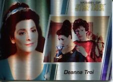 Star Trek Women Of 50th Metal Parallel Base Card #37 Deanna Troi and Lwaxan