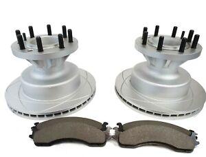 Rear Disc Brake Rotors Pair For Ford E-350 Super Duty E-250 Econoline Club Wagon E-150 E-450