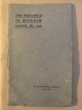 More details for the history of de moulham lodge swanage no. 1146 antique freemasons book