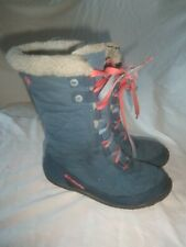 Columbia Minx Quilted Blue Pink Waterproof Omni Tech Snow Rain Mud Muck Boots 1