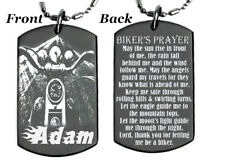 Personalized BIKER'S PRAYER - Dog tag Necklace or Key chain with FREE ENGRAVING