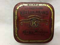 Vintage Kee Lox Brand Tin ONLY USA