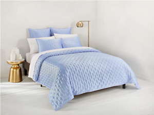 Ted Baker London Bow Twin Quilted Coverlet In Light Blue NWT