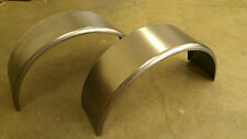 "PAIR of Steel Trailer Fender Single Axle 9""x32"" Round Style FREE SHIPPING!!"