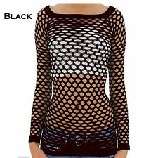 SEXY Very Hot Fence Net Long Sleeve Cami Top