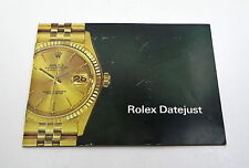 1981 18K Rolex Datejust Oyster Watch Catalog Instruction Manual Book #33h