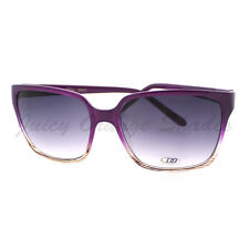 Vintage Fashion Sunglasses Womens 2-Tone Print Square Frame PURPLE