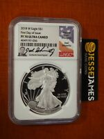 2018 W PROOF SILVER EAGLE NGC PF70 ULTRA CAMEO FIRST DAY OF ISSUE JOEL ISKOWITZ