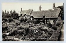 D4121cgt UK Anne Hathaways Cottage Garden Shottery RP vintage postcard