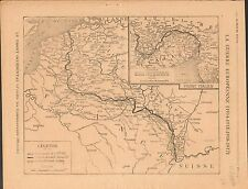 Map Carte Front Occidental Allemagne France Italie/Romania Bulgaria War 1917 WWI