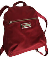 NWT Calvin Klein Women's Belfast Nylon Vegan Zip Backpack Red Adjustable straps